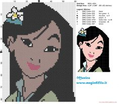 Mulan with a flower pattern by Monica (click to view)