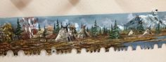 Just one of the many different gorgeous landscapes created by a very talented local artist. Every inch of the saw hand painted with beautiful precision. Come down and admire them in person! And take one home with you too