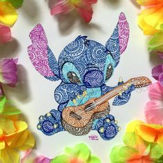 Stitch playing the guitar - Lilo and Stitch