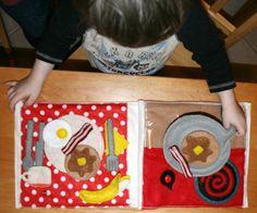 Cook breakfast quiet book pattern