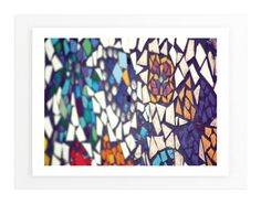 """""""Brightly Mosaic"""" - Art Print by Smile Peace Love in beautiful frame options and a variety of sizes."""