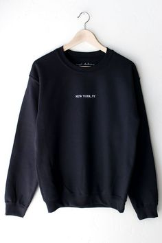 About New York Sweatshirt This sweatshirt is Made To Order, we print the sweatshirt one by one so we can control the quality. We use DTG Technology to print on to New York Sweatshirt New York Sweatshirt, Earl Sweatshirt, Sweatshirt Outfit, Crew Neck Sweatshirt, Oversized Sweater Outfit, Sweater Outfits, Cute Outfits, Oversized Sweaters, Sweat Shirt