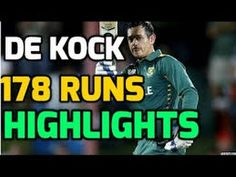 Quinton deKock 178 Against Australia 1st ODI 2016 - Cricket Tower