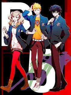 Persona 5 - Anne Takamaki, Ryuji Sakamoto, and Protagonist by Jiro