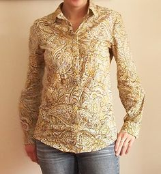 made by meli88a: Favorite shirt, twice in paisley: Burda 09-2009-105
