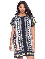 Tribal Print Shirt Dress | Women's Plus Size Dresses | ELOQUII