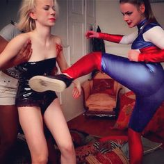 Hold her, Janelle, while I chop her one right in her #stomach. #captainamerica is here to #rescue you, Janelle.  Check out the #brandnewvideo on http://defeated.xxx #kick #kicks #catfight #femalefight #femalefighter #femalefighting #femalefighters #justice #goodvsbad #goodvsevil #punishment #mysaviour #hero #heroine #superheroine #superheroines