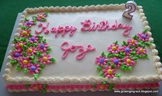 Good icing recipe here / Growing in Grace: Joze's Birthday Cake