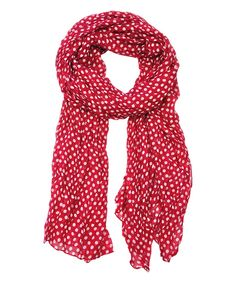 Loving this Red Polka Dot Scarf on #zulily! #zulilyfinds