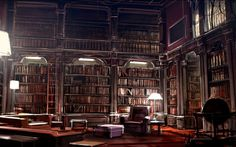 One day, I vow to have a library in my house as completely awesome and magical as Hogwarts. Reading Wallpaper, Hd Wallpaper, Macbook Wallpaper, Grand Canal, Art Nouveau, Library Drawing, Hogwarts Library, Home Library Design, Library Ideas