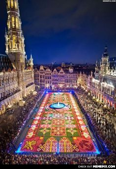 Flower Carpet in Brussels...one of the most beautiful cities!