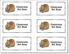Free Classroom Pet Pass.  Give time with the class pet by using these passes as a reward for hard work or good behavior in your classroom.