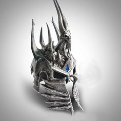 WOW World of War craft Lich King Death Knights Helmet Frostmourne 1:1 Scale