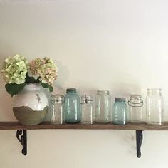 The always sweet Marynn from @theclassicnest asked me to share some of my jars for Lindsay's #whimsygirlweekend. First of all, if you have not seen Marynn's eating space in her kitchen, you should go check it out. It's darling and one of my favorite spaces in all of Instagram. Our house is a demolition zone right now, so this is as good as my jar display gets. But every girl in the south has to have a good mason jar right? Well these were found in one of our old buildings right after my…