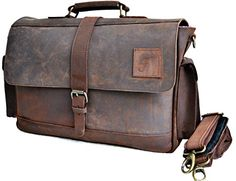 15 Large dark Leather bag for men messenger bag shoulder bag mens Laptop Bag office bag cross body bag >>> To view further for this item, visit the image link. This Amazon pins is an affiliate link to Amazon.