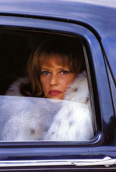 Portrait of Jeanne Moreau by Helmut Newton, 1970's  Fur & cars Добавь, ставь нравится, поделись. Add, Like, Share!