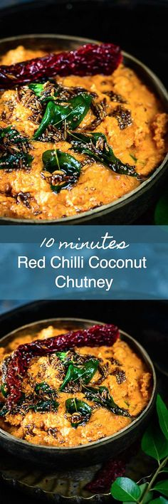 Red Chilli Coconut Chutney - Another! Indian Chutney Recipes, Indian Food Recipes, Asian Recipes, Veg Recipes, Vegetarian Recipes, Cooking Recipes, Healthy Recipes, Simple Recipes, Recipies