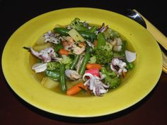 Seafood Soup with  Fresh Vegetables
