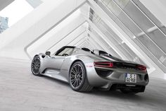 Backside of the Porsche 918 Spyder