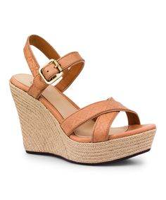 Loving this Putty Embossed Jackilyn Leather Espadrille - Women on. UGG  Wedges- ...