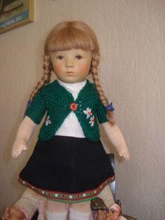 Puppenkleid-Trachtenjacke-und-Kleid-2-Teile-Puppenkleidung