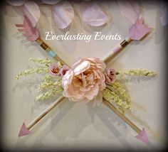 Pretty arrow decor at a bohemian baby shower party! See more party planning ideas at CatchMyParty.com!