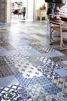 Saint maclou on pinterest for Carrelage imitation carreaux de ciment saint maclou