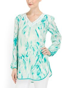 Silk Printed Surf Top..@tjmaxx