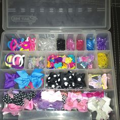Organizing baby girl's hair accessories                                                                                                                                                                                 More