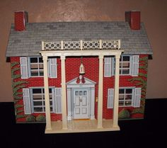VINTAGE MARX ? 2 STORY TIN LITHO DOLLHOUSE DOLL HOUSE #Marx .....Rick Maccione-Dollhouse Builder www.dollhousemansions.com