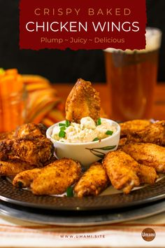 This crispy baked chicken wing recipe is the best way we've found to cook wings that balance plump and juicy chicken on the inside with crispy skin on the outside. Crispy Baked Chicken Wings, Smoked Chicken Wings, Best Chicken Wing Recipe, Yummy Chicken Recipes, Top Recipes, Dinner Recipes, Stuffed Peppers, Cooking, Fun Food