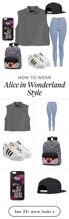 """Here kitty kitty...."" by stardreamer52789 on Polyvore featuring Monki, Topshop, adidas Originals, Vans and Disney"