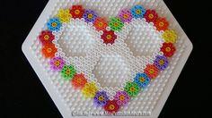 DIY Heart photo frame hama perler beads by Rachel - Mes Petits Bonheurs