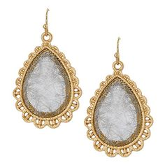 Teardrop Stone Drop Earrings [ECE13033MGSV] : Wholesale24x7.com - Fashion Scarves and Accessories Wholesale, One Stop Wholesale Shopping for Scarves, Jewelry and Fashion Accessories!