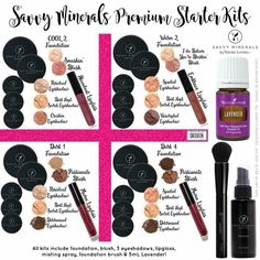 Savvy Minerals Starter Kits now available! Four different colors to get you on your way to non toxic makeup living! Essential Oil Box, Essential Oils For Colds, Young Living Essential Oils, Beginner Makeup Kit, Makeup For Beginners, Dark Circles Makeup, Savvy Minerals, Non Toxic Makeup, Korean Makeup Tutorials