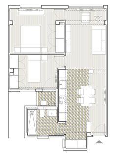Reforma integral de apartamento en Valencia. Distribución.