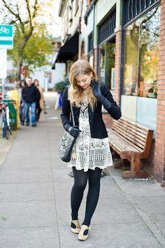 love the lace dress  portland oregon street fashion | ... street style from portland oregon repinned from portland by ashley