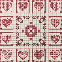 hearts in a grid. love this!