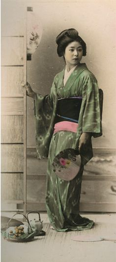 A photograph of a geisha from Etnographic Museum in Krakow