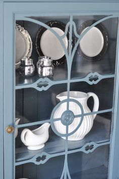 China Cabinet with Fusion Mineral Paint Homestead Blue