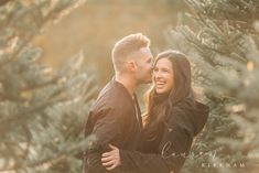 Couples session at Christmas tree farm with Saratoga Springs NY engagement photographer Lauren Kirkham Photography Couple Photography, Engagement Photography, Photography Poses, Christmas Engagement Photos, Engagement Pictures, Couple Portraits, Couple Photos, Farm Photo, Christmas Tree Farm