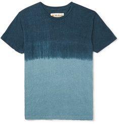 MolluskDip-Dyed Hemp and Cotton-Blend Jersey T-Shirt