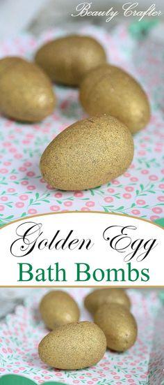Golden Egg Bath Bomb DIY