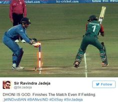 Fans Reacts On Twitter On Dhoni After India Win Against Bangladesh