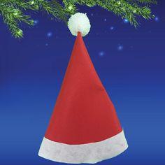 Cómo hacer un gorro de Papá Noel de forma casera y muy fácilmente #gorro #papanoel #fieltro http://www.guiainfantil.com/articulos/ocio/manualidades/gorro-de-papa-noel-con-fieltro-manualidades-de-navidad/
