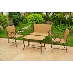 Found it at Wayfair - Meetinghouse 4 Piece Patio Lounge Seating Group