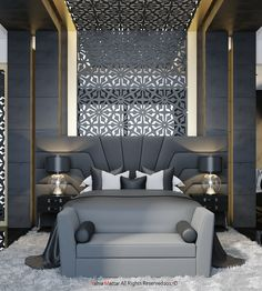 Immortalize on Behance - Houses interior designs Home Interior Design, Interior Design Bedroom, House Interior, Bedroom Bed Design, Bed Design, Luxury Interior, Bedroom Design, Home Bedroom, Luxurious Bedrooms