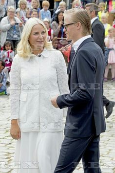 23 June 2016 - 25th Anniversary of the Coronation of Sonja and Harald, Trondheim, Norway - Crown Princess Mette-Marit and Marius Borg Hoiby