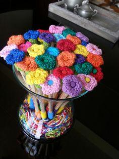 Bloemen potloden