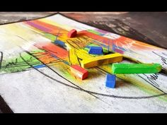 Abstract painting / Dry Soft Pastels on Black paper / Demonstration - YouTube